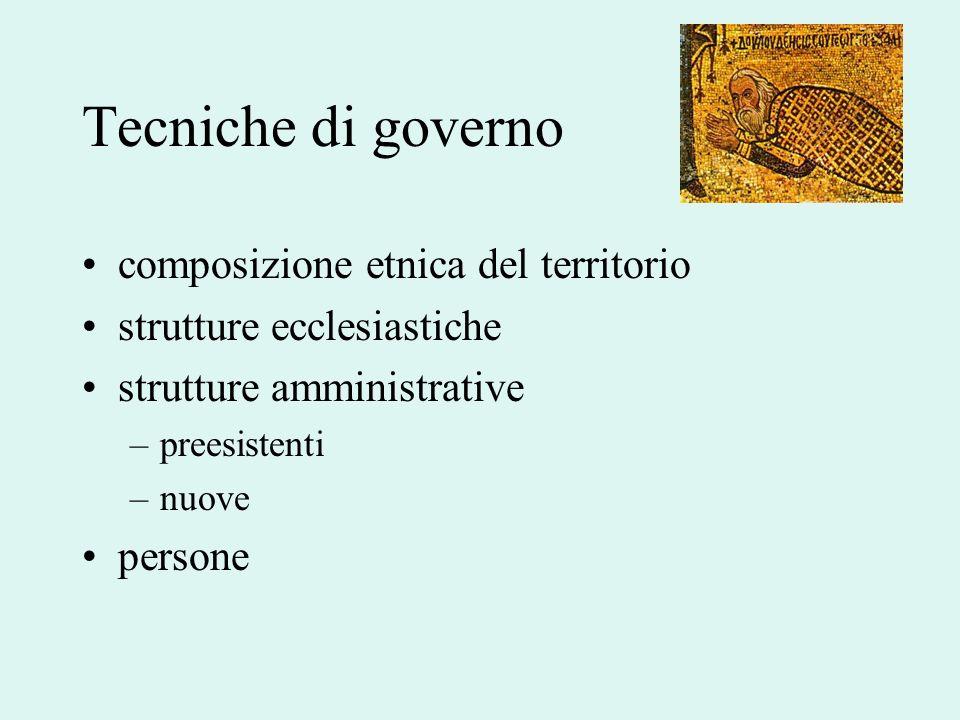 Tecniche di governo composizione etnica del territorio