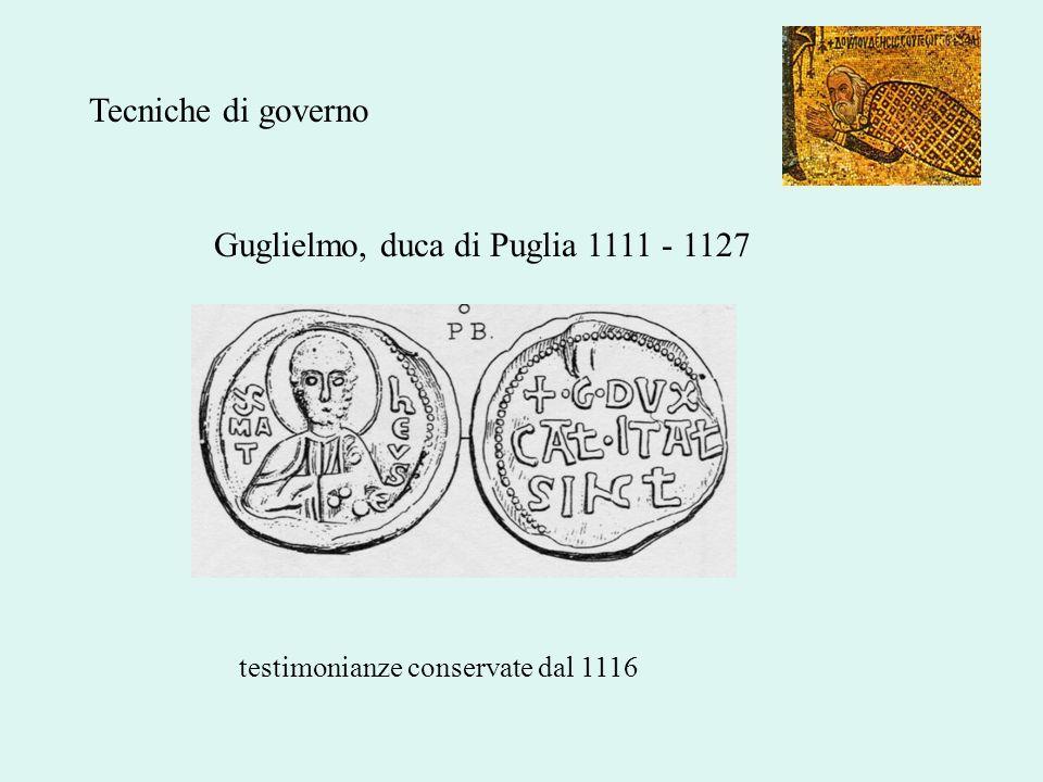 Guglielmo, duca di Puglia 1111 - 1127