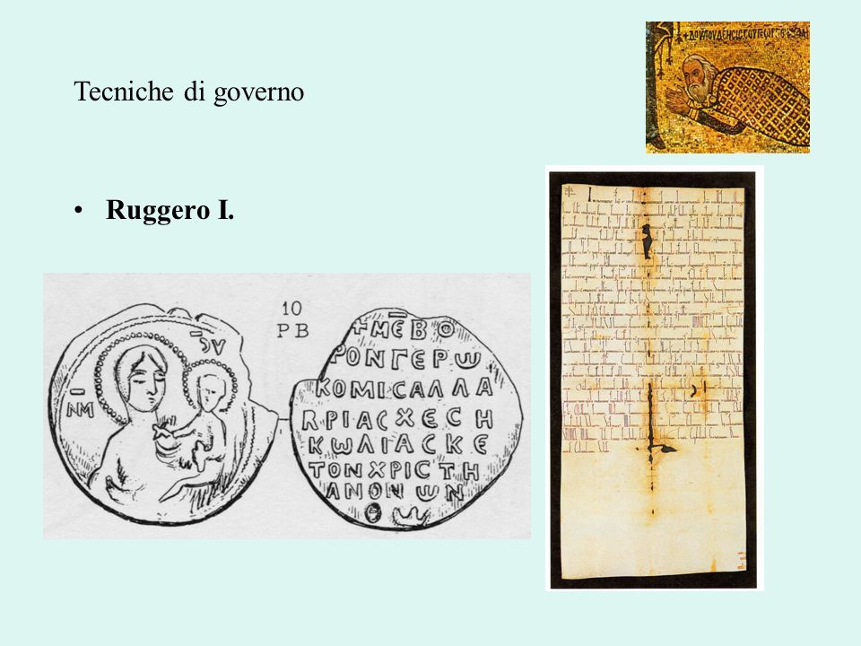 Tecniche di governo Ruggero I.