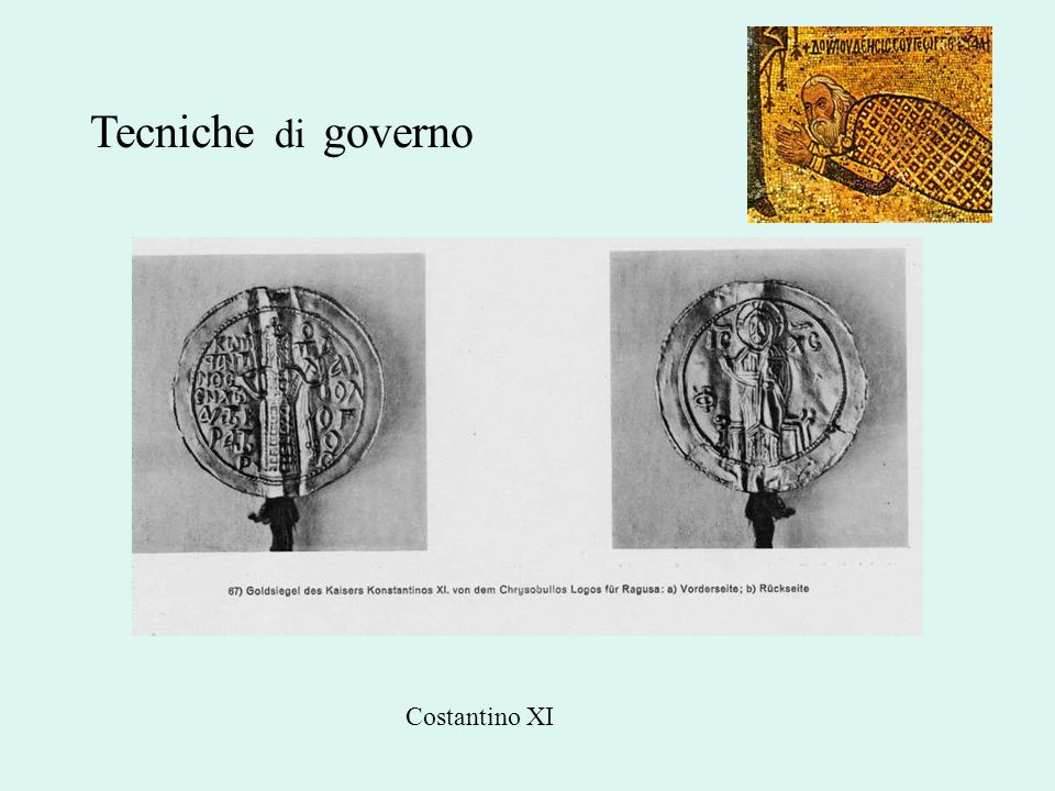 Tecniche di governo Costantino XI
