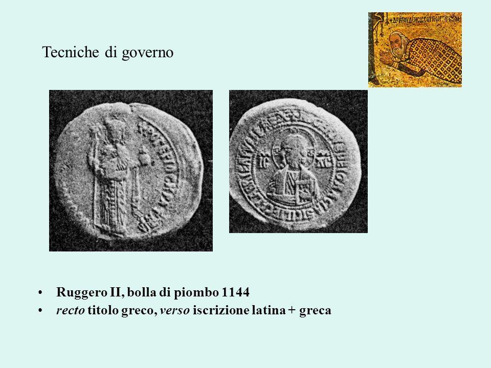Tecniche di governo Ruggero II, bolla di piombo 1144