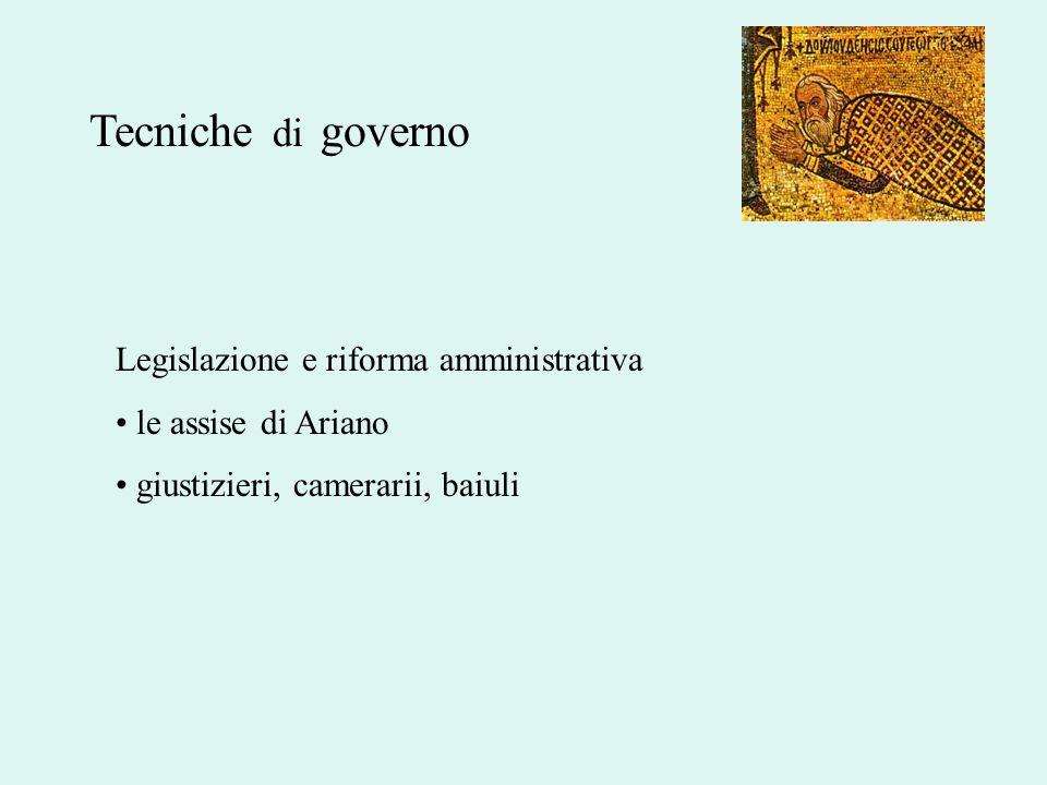 Tecniche di governo Legislazione e riforma amministrativa