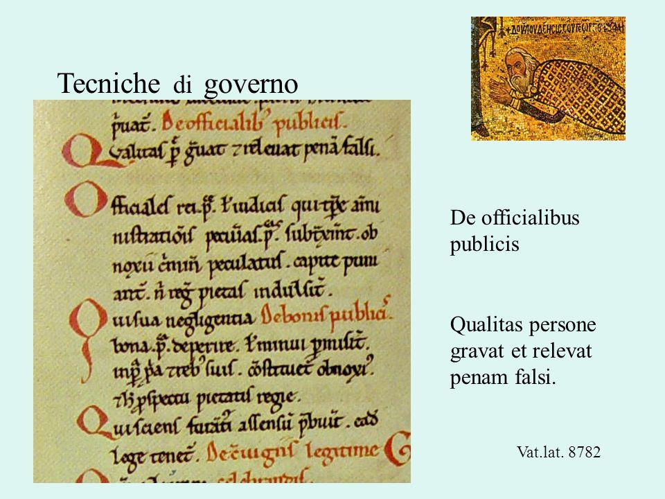 Tecniche di governo De officialibus publicis