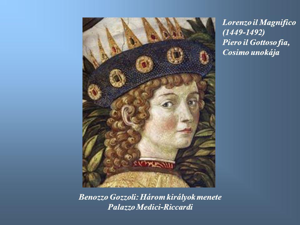 Benozzo Gozzoli: Három királyok menete Palazzo Medici-Riccardi
