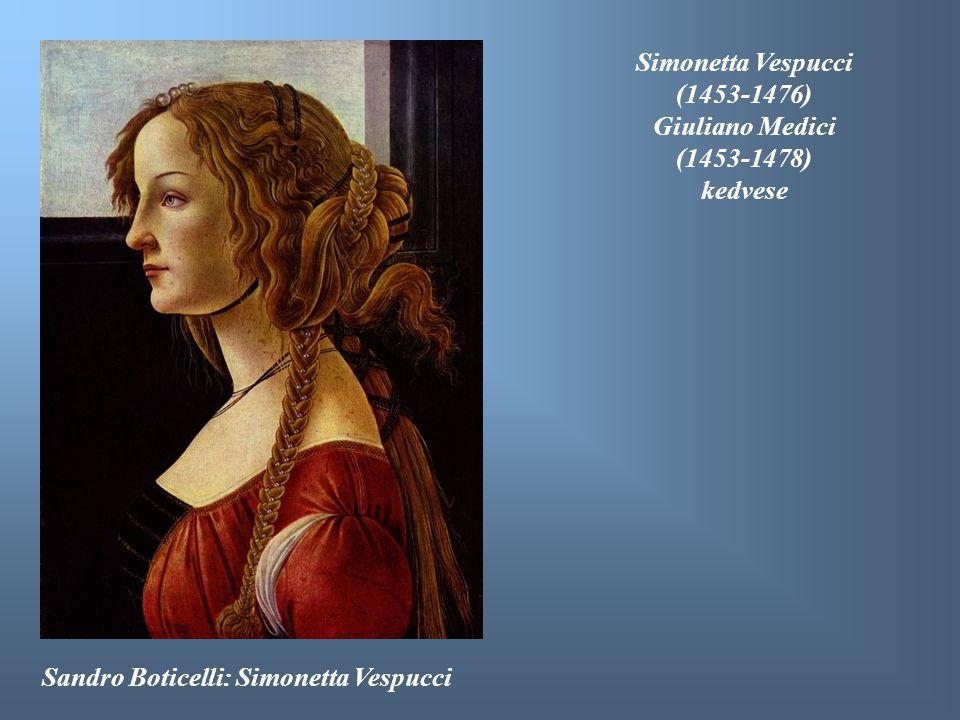 Simonetta Vespucci (1453-1476) Giuliano Medici. (1453-1478) kedvese.
