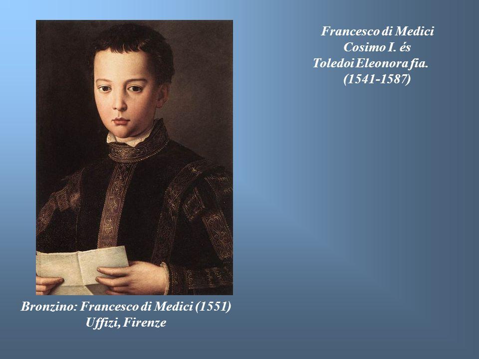 Francesco di Medici Cosimo I. és. Toledoi Eleonora fia. (1541-1587) Bronzino: Francesco di Medici (1551)