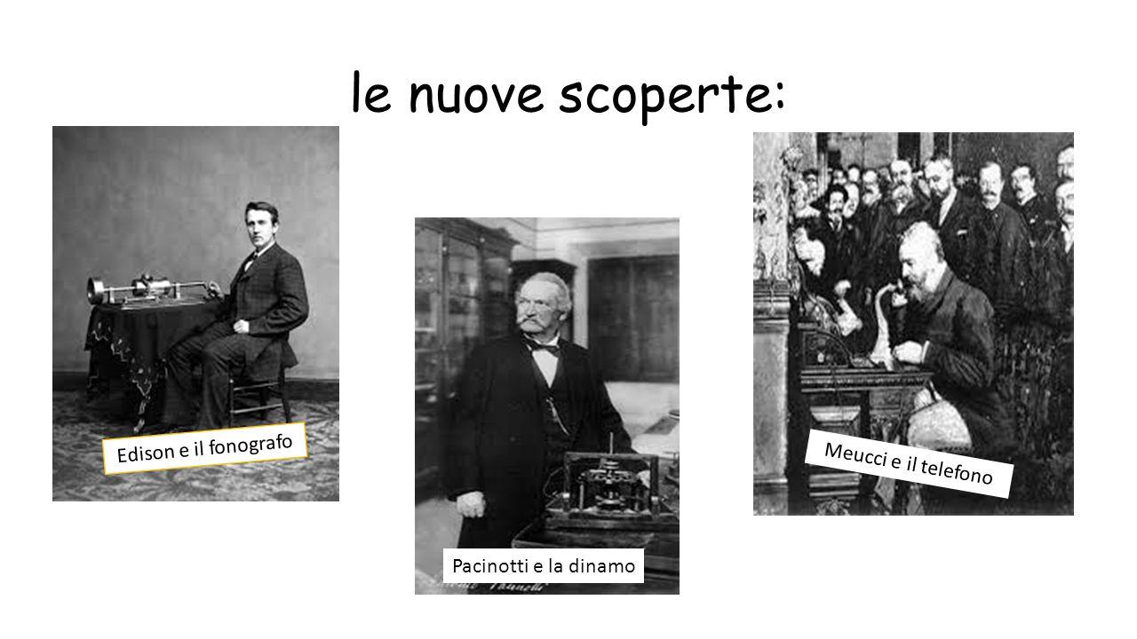 le nuove scoperte: Edison e il fonografo Meucci e il telefono