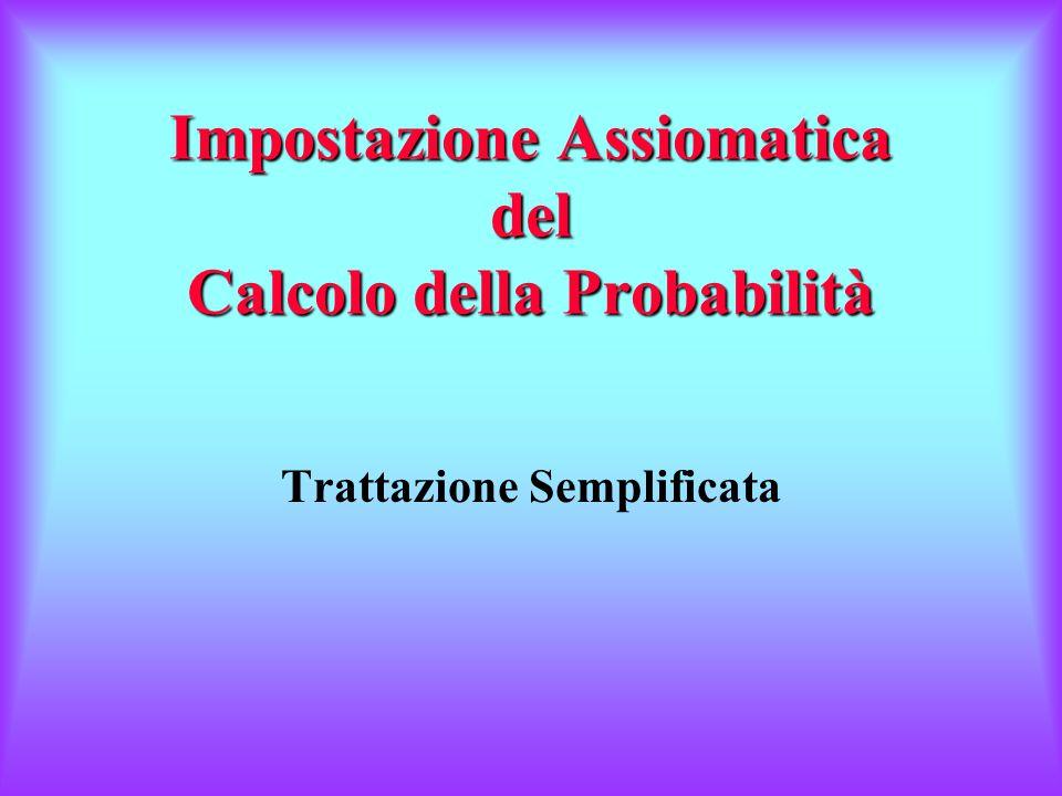 Impostazione Assiomatica del Calcolo della Probabilità