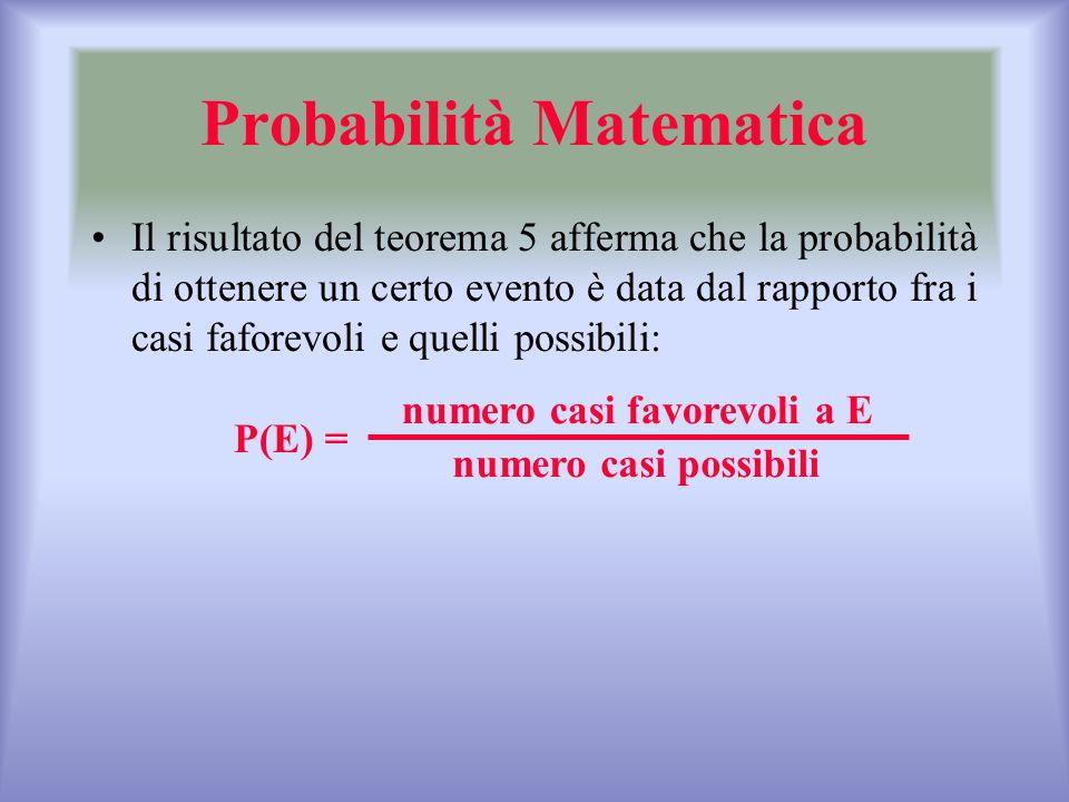Probabilità Matematica