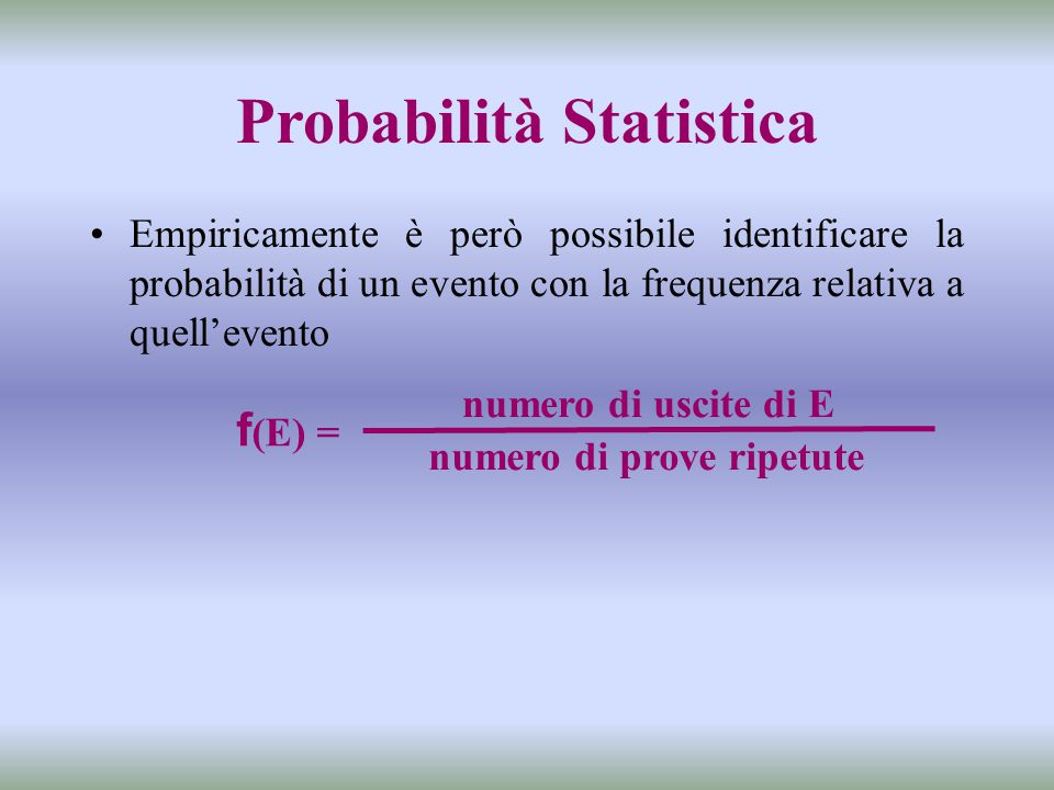 Probabilità Statistica