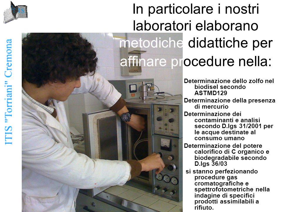 In particolare i nostri laboratori elaborano metodiche didattiche per affinare procedure nella: