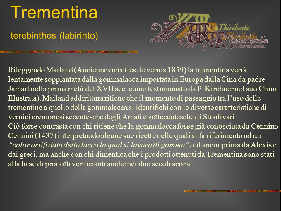 Trementina terebinthos (labirinto)