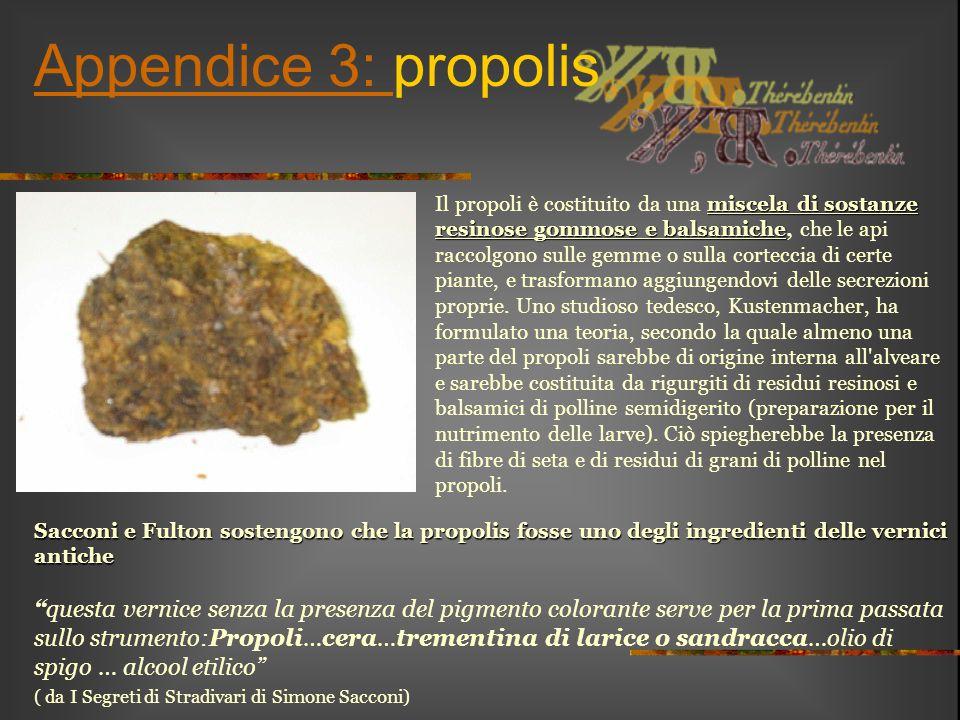 Appendice 3: propolis