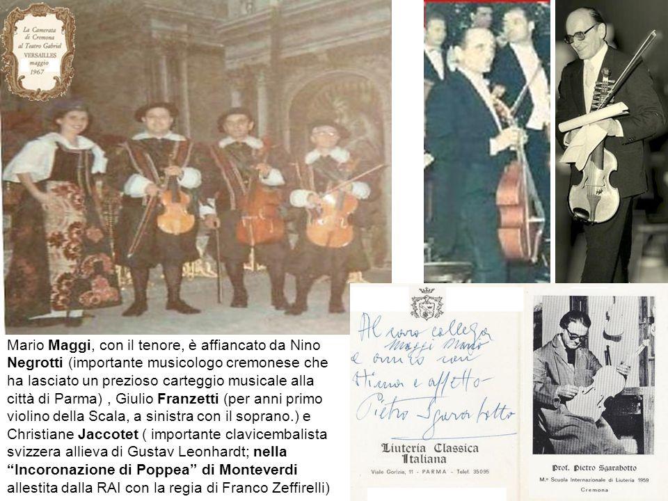 Alfredo Riccardi (tito è il violinista), Nino Negrotti , Giulio Franzetti Christiane Jaccotet