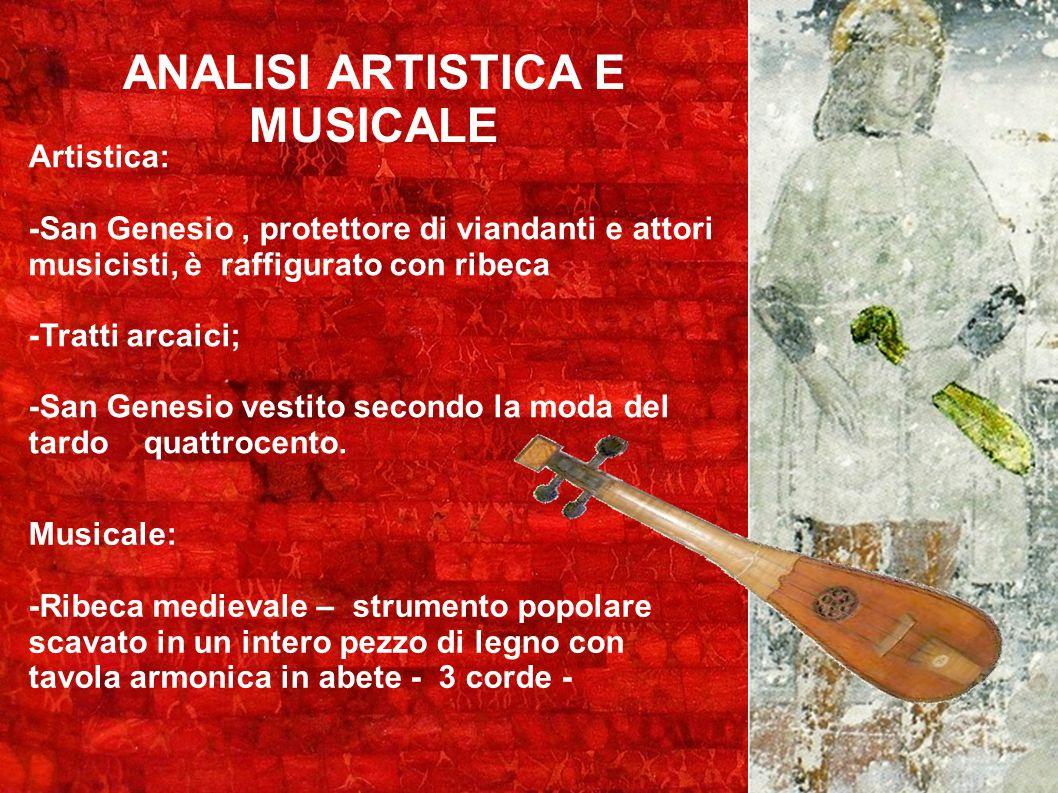 ANALISI ARTISTICA E MUSICALE