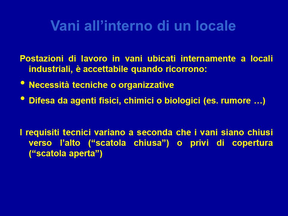 Vani all'interno di un locale