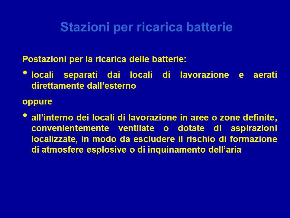Stazioni per ricarica batterie