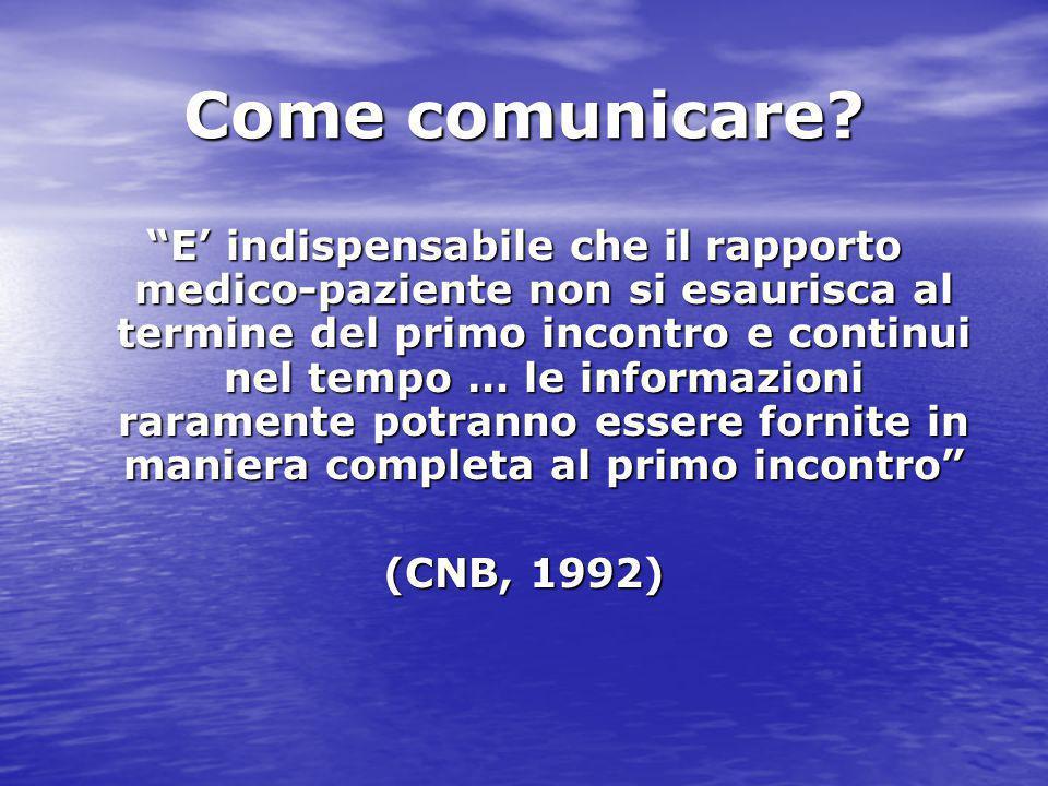 Come comunicare