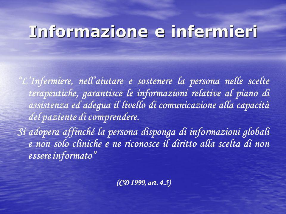 Informazione e infermieri