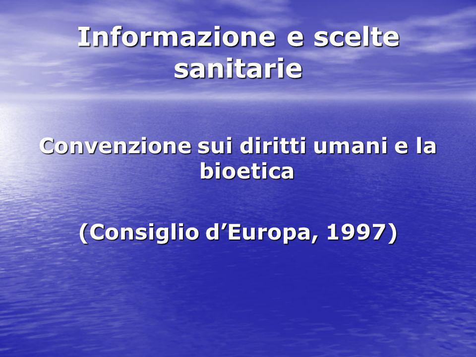 Informazione e scelte sanitarie