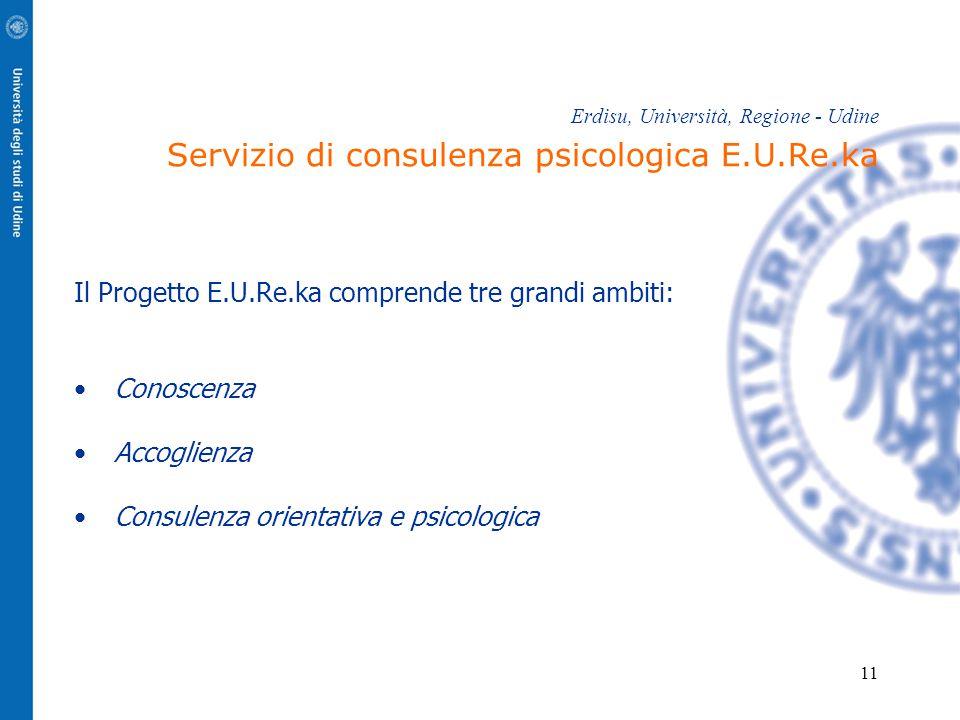 Il Progetto E.U.Re.ka comprende tre grandi ambiti:
