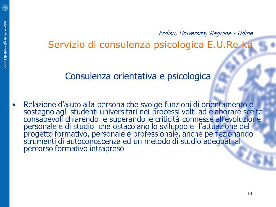 Consulenza orientativa e psicologica