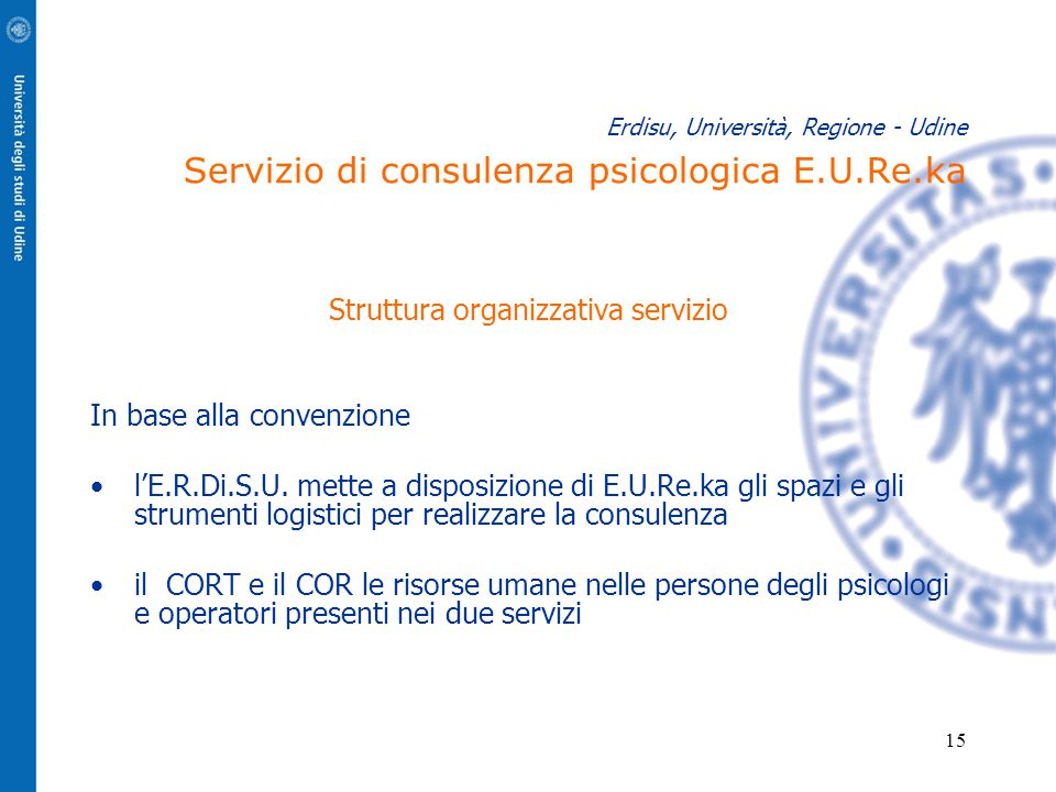 Struttura organizzativa servizio