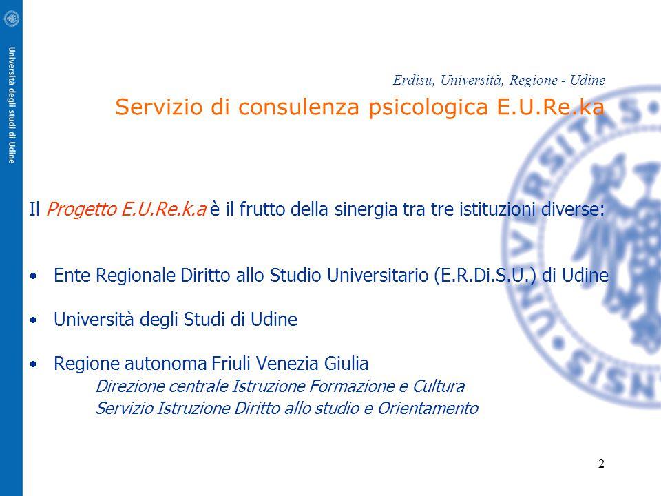 Università degli Studi di Udine Regione autonoma Friuli Venezia Giulia