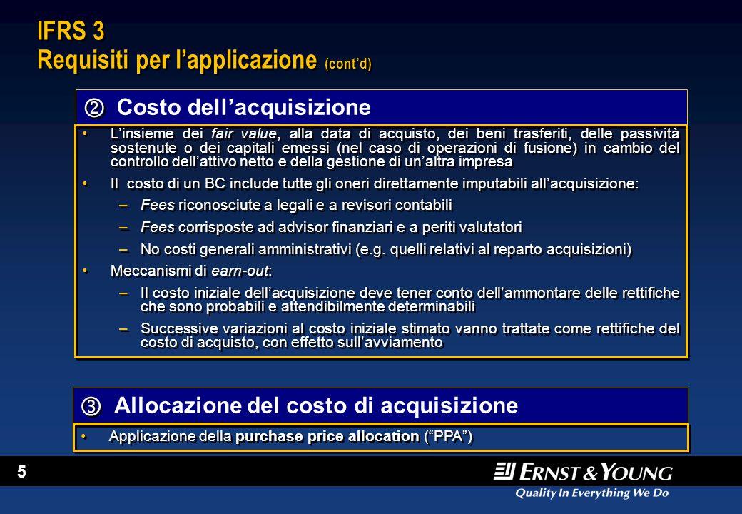 IFRS 3 Requisiti per l'applicazione (cont'd)