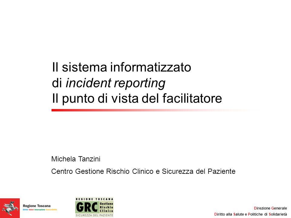 Il sistema informatizzato di incident reporting Il punto di vista del facilitatore