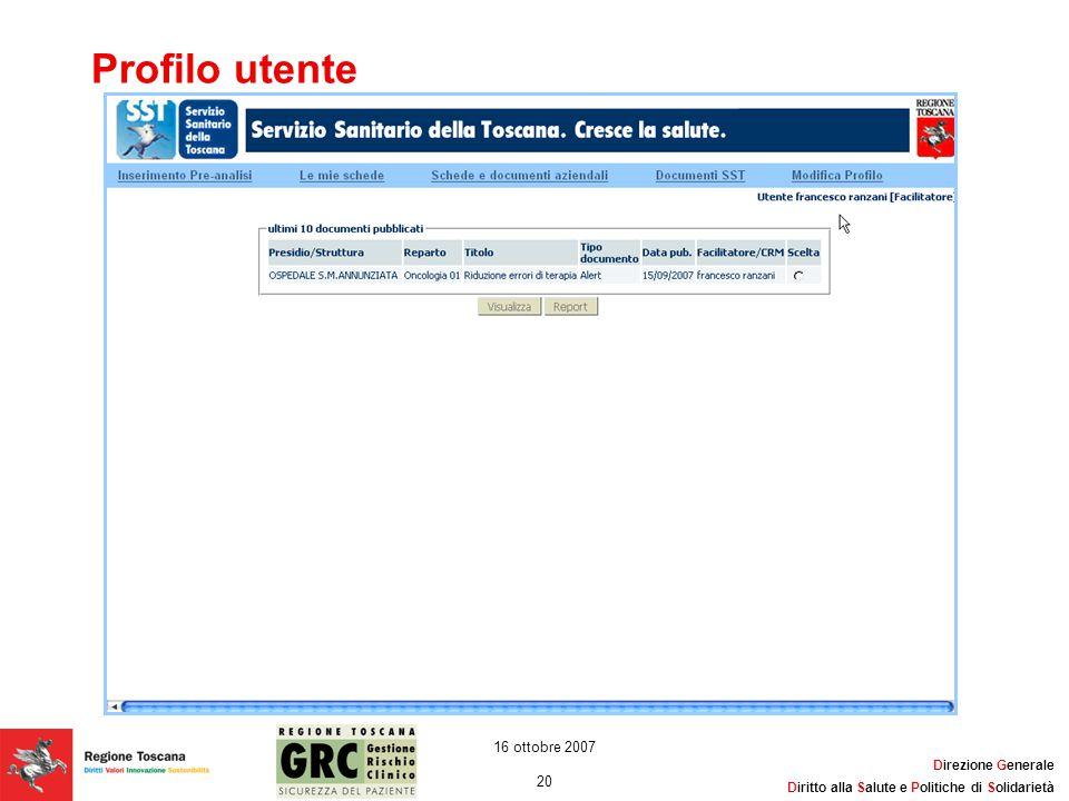 Profilo utente 16 ottobre 2007