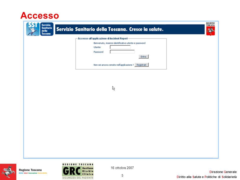 Accesso 16 ottobre 2007