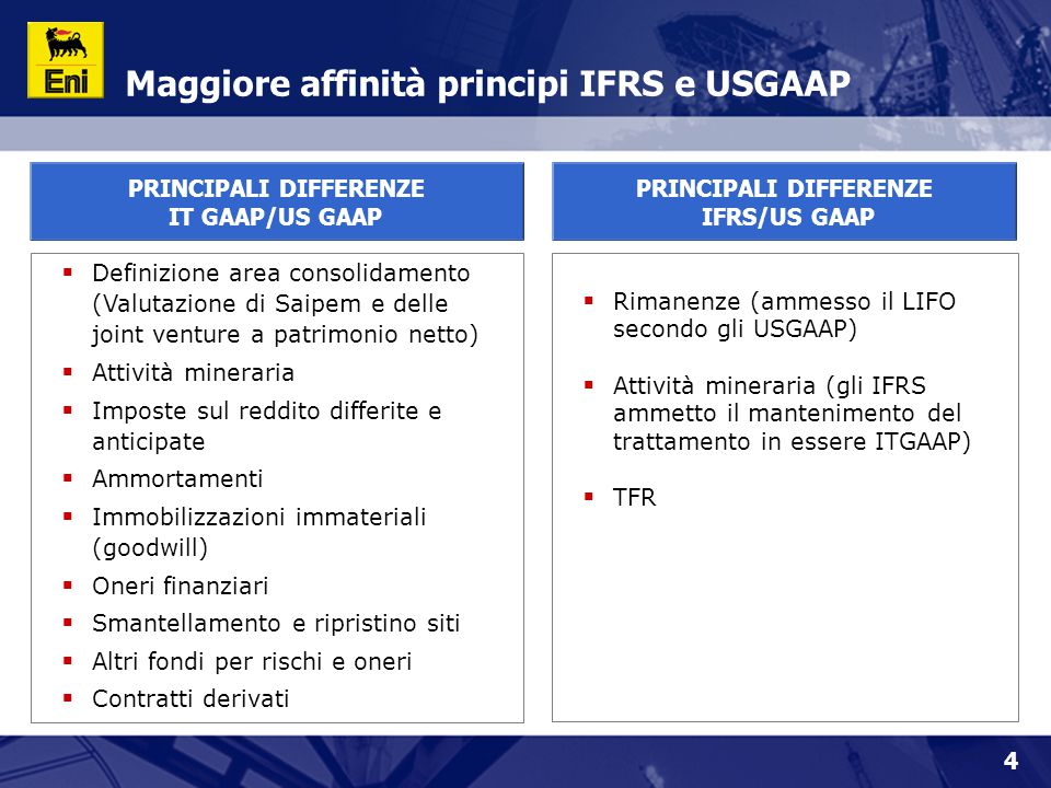 Maggiore affinità principi IFRS e USGAAP