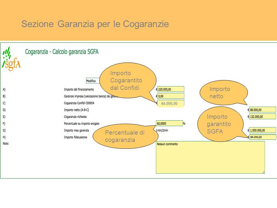 Sezione Garanzia per le Cogaranzie