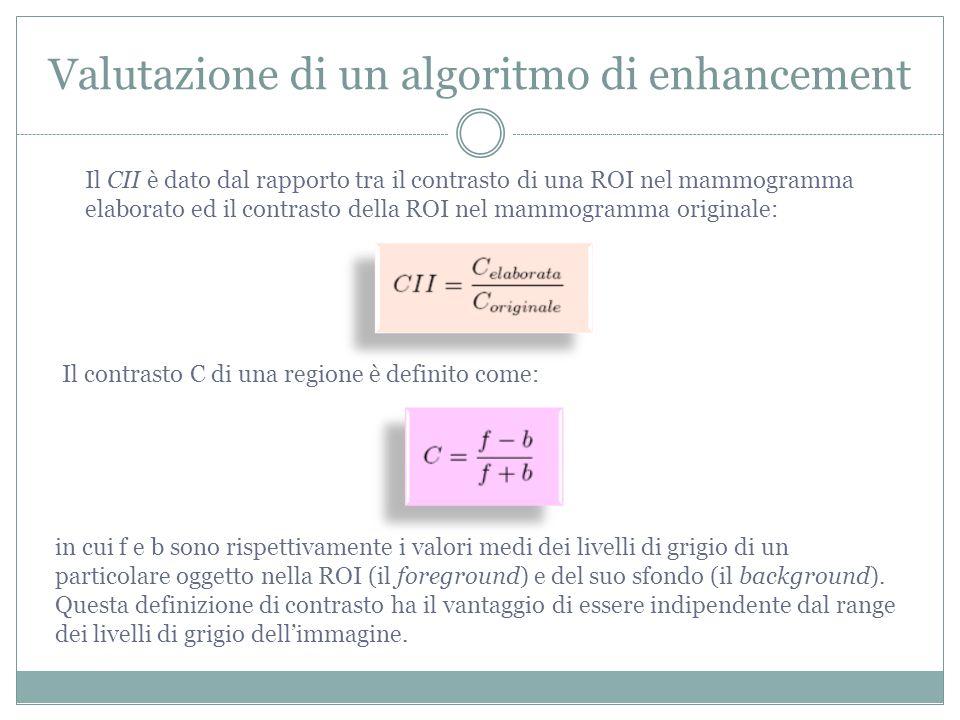 Valutazione di un algoritmo di enhancement