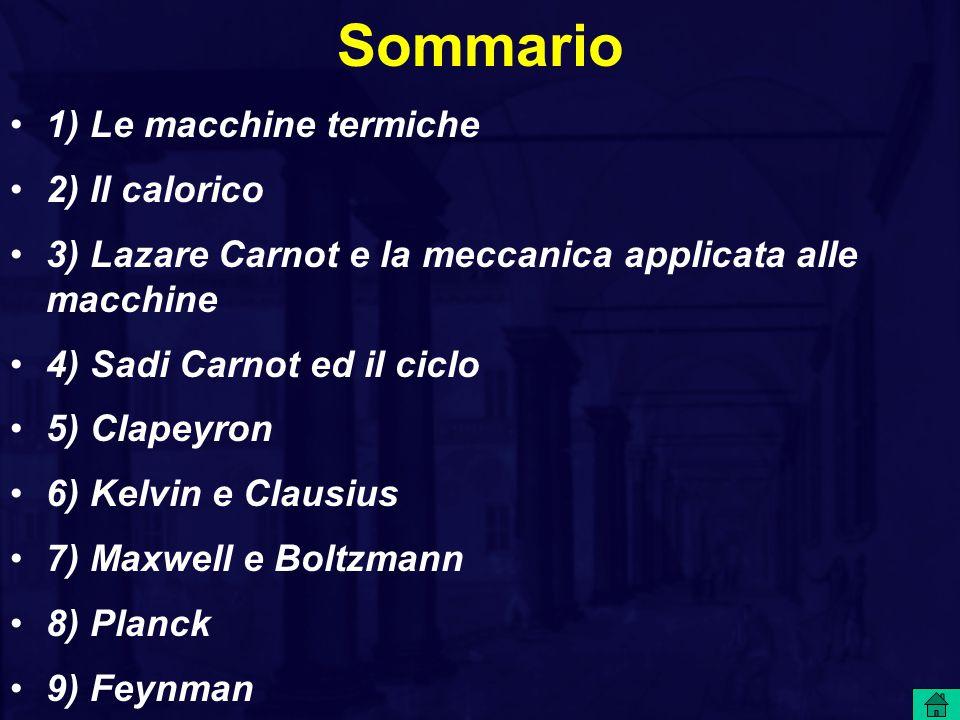 Sommario 1) Le macchine termiche 2) Il calorico