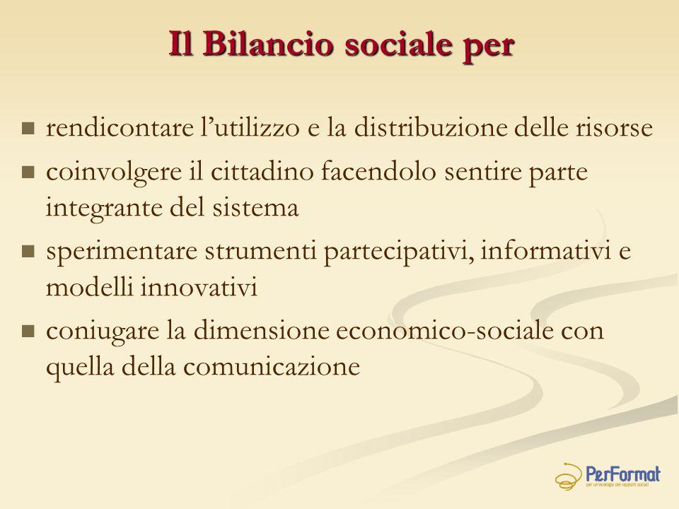 Il Bilancio sociale per
