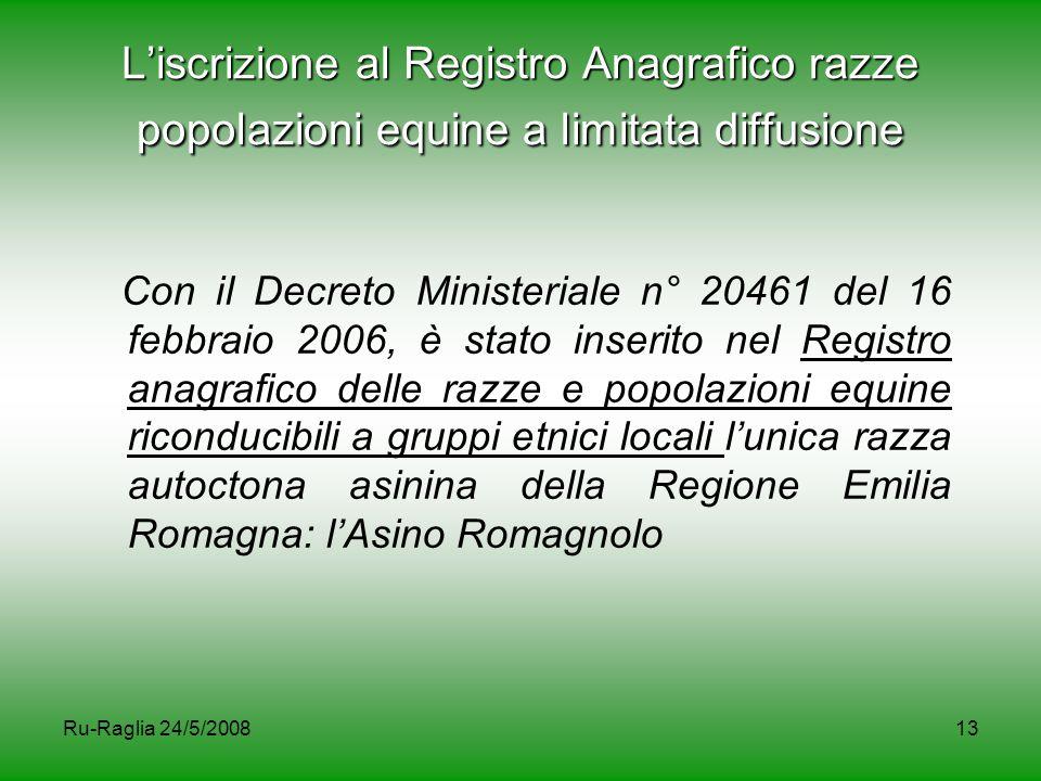 L'iscrizione al Registro Anagrafico razze popolazioni equine a limitata diffusione