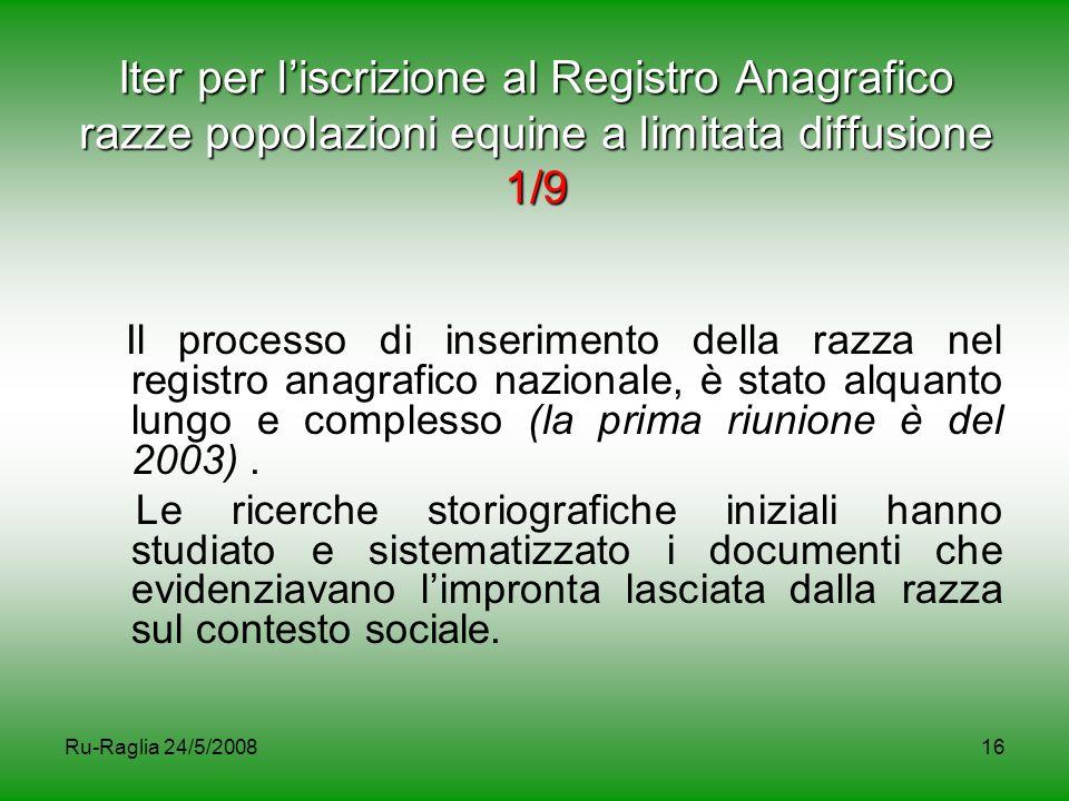 Iter per l'iscrizione al Registro Anagrafico razze popolazioni equine a limitata diffusione 1/9