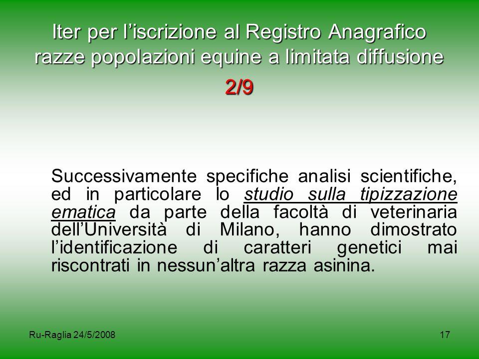 Iter per l'iscrizione al Registro Anagrafico razze popolazioni equine a limitata diffusione 2/9