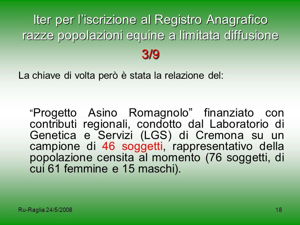 Iter per l'iscrizione al Registro Anagrafico razze popolazioni equine a limitata diffusione 3/9