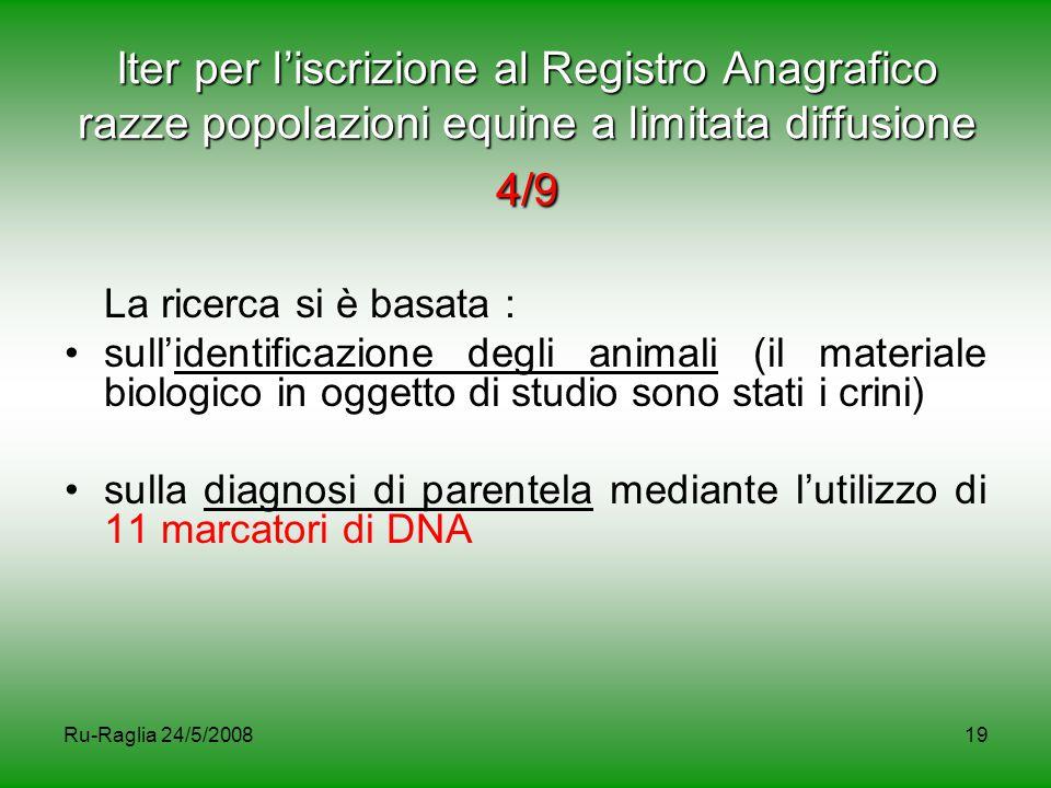 Iter per l'iscrizione al Registro Anagrafico razze popolazioni equine a limitata diffusione 4/9
