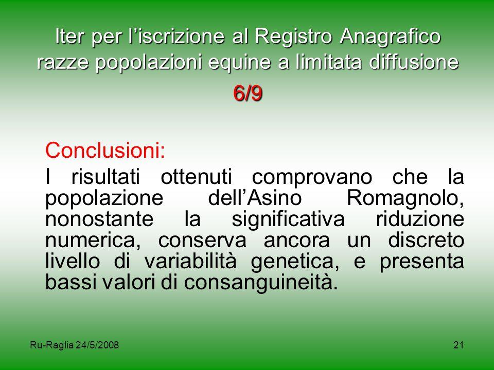 Iter per l'iscrizione al Registro Anagrafico razze popolazioni equine a limitata diffusione 6/9