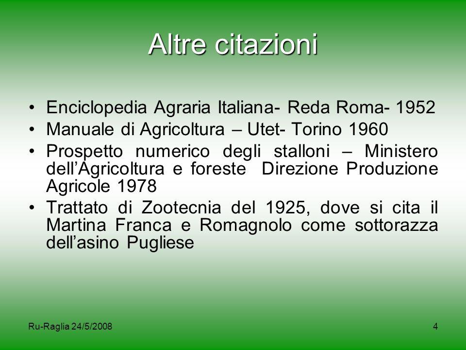 Altre citazioni Enciclopedia Agraria Italiana- Reda Roma- 1952