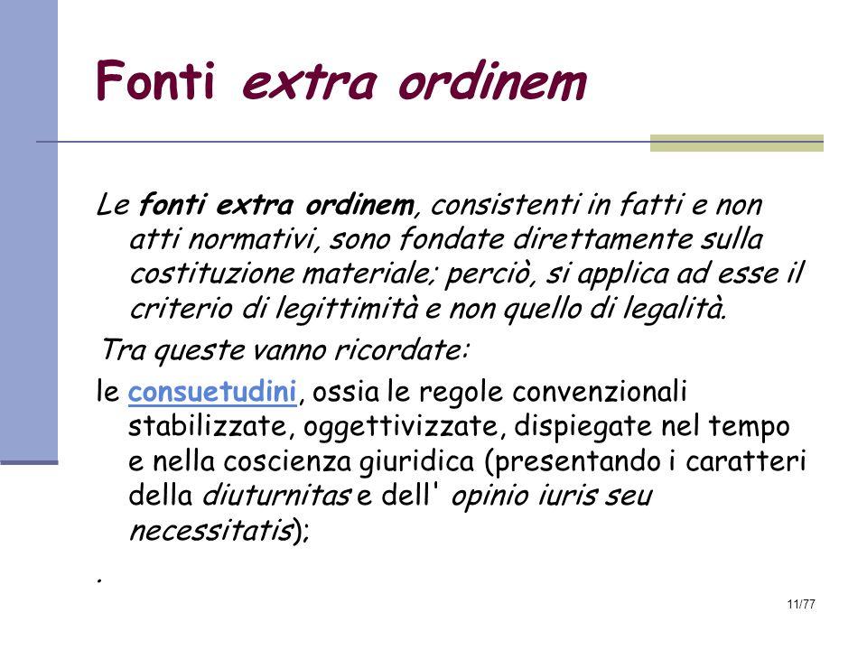 Fonti extra ordinem