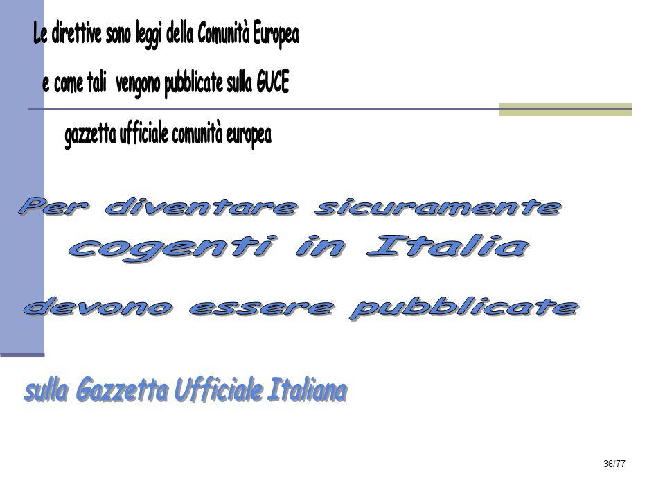 sulla Gazzetta Ufficiale Italiana