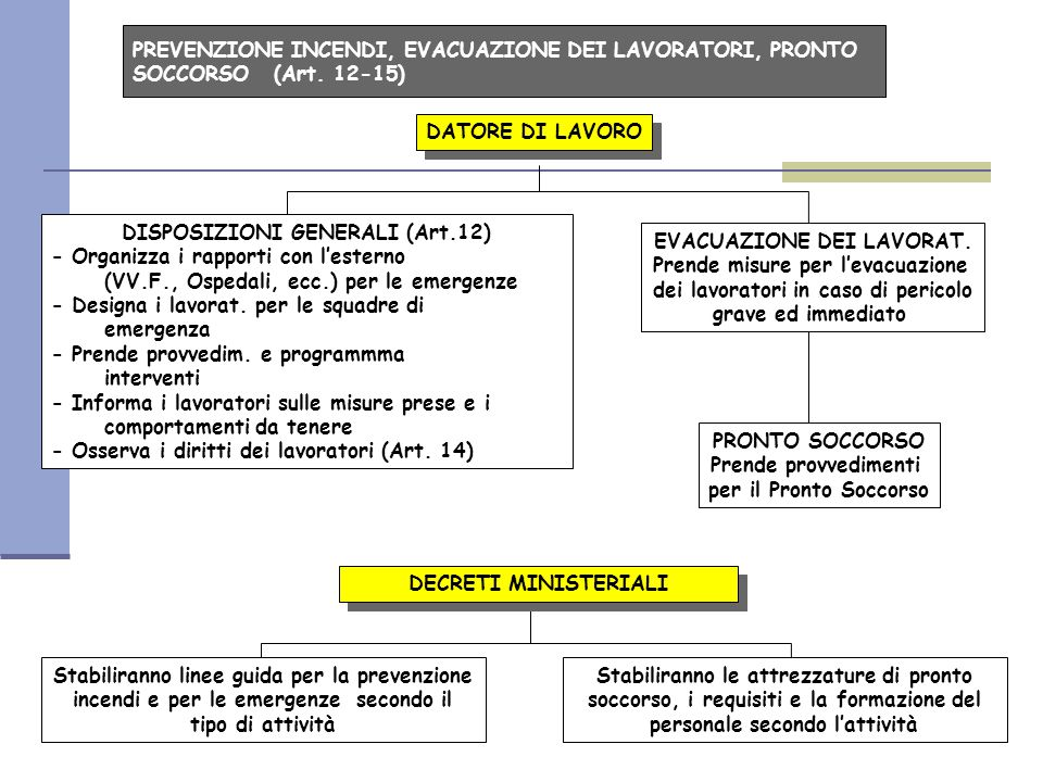 DISPOSIZIONI GENERALI (Art.12) - Organizza i rapporti con l'esterno