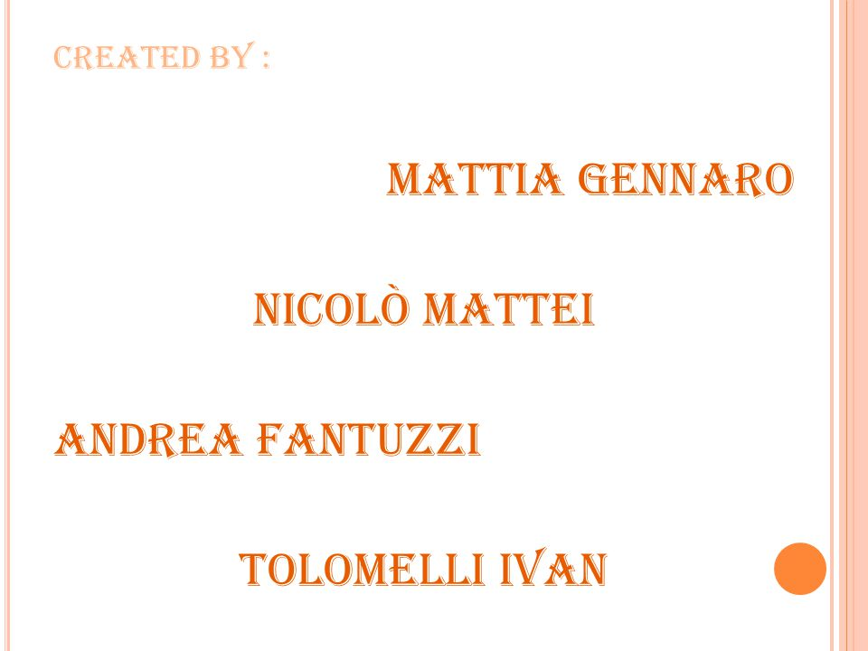 Mattia Gennaro Nicolò Mattei Andrea Fantuzzi Tolomelli Ivan