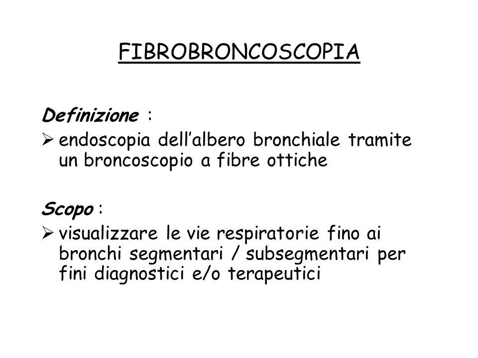 FIBROBRONCOSCOPIA Definizione :