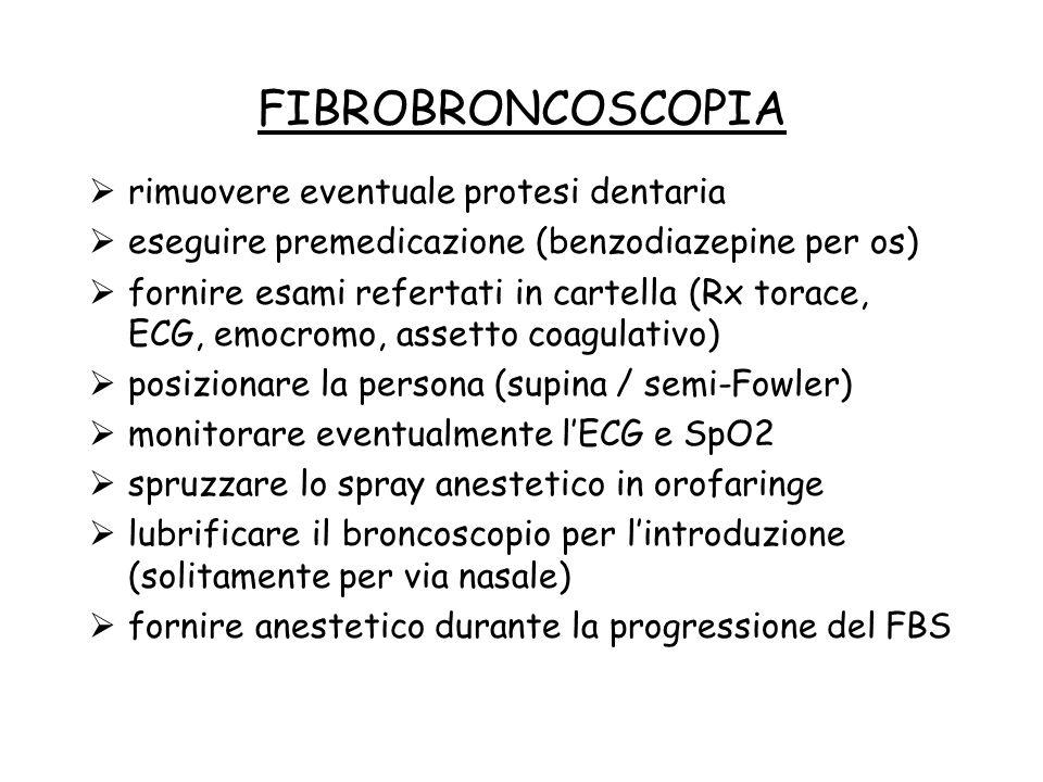 FIBROBRONCOSCOPIA rimuovere eventuale protesi dentaria